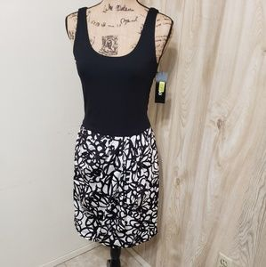 Nwt DKNY tank dress with silk skirt